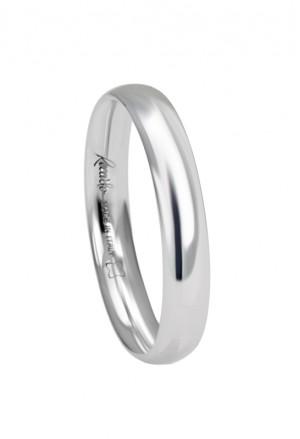 Fede Nuziale Recarlo Oro 18kt Bianco Matrimonio Wedding W14FM001/B