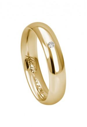 Fede Nuziale Recarlo Oro 18kt Giallo Diamante Naturale Matrimonio Wedding W14FL001/GD