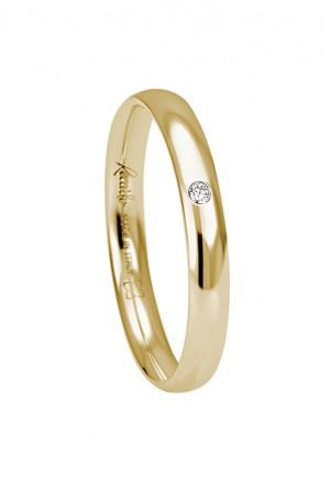 Fede Classica Oro 18kt Gialla Diamante Recarlo XE154/G