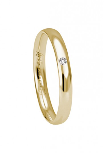 Fede nuziale recarlo oro 18kt giallo diamante matrimonio wedding w14fs001/gd