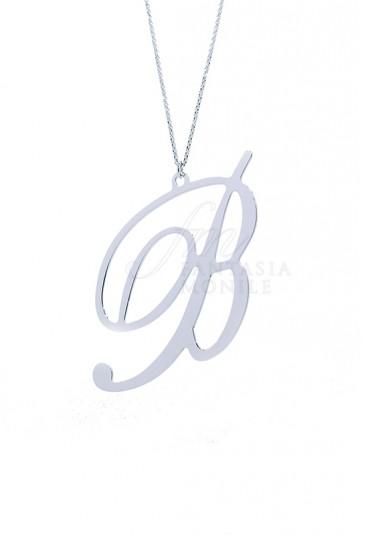 Collana Donna Iniziale Argento 925% Silver Lettera B Unoaerre 8359