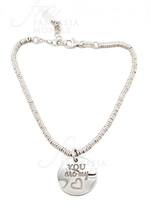 Bracciale Lady Argento Charm You Are My Heart My Charm AMP45