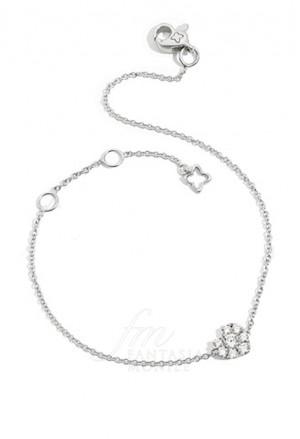 Bracciale Donna Diamante Naturale Oro Bianco Cuore Lovely Recarlo XE096/010 6303
