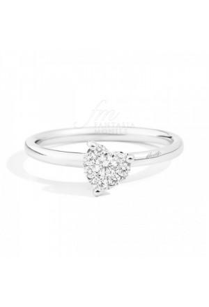 Anello Donna Diamante Naturale Oro Bianco Cuore Lovely Recarlo XD991/020 6040