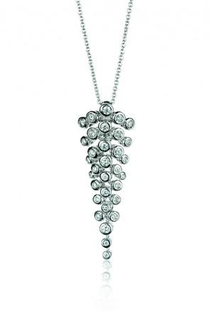 Collana Donna Pendente Diamanti Naturali Oro Bianco Cassiopea Bibigì 412 03234884
