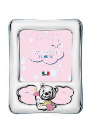 Cornice Portafoto Bimba Rosa Argento Bilamina Valenti 73102/4R