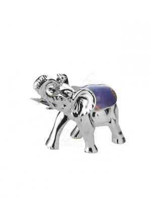 Elefante Portafortuna Small Placcato Argento Vetro Colorato Acca AR 966 EL