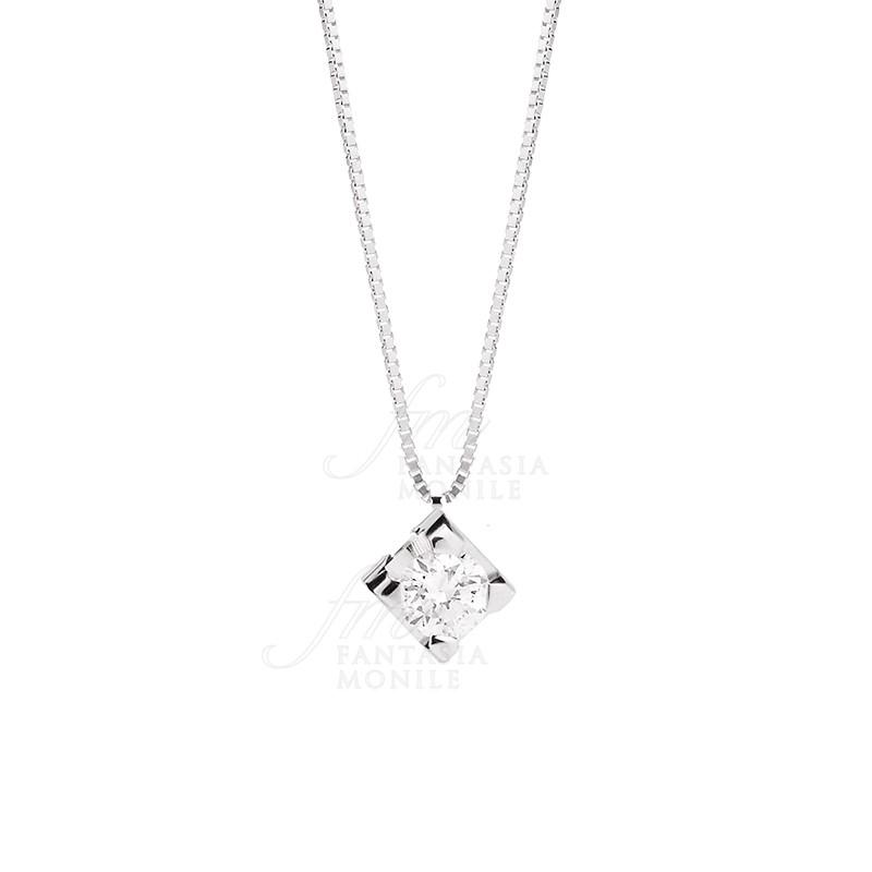 negozi popolari metà fuori prezzi di sdoganamento Collana Donna Punto Luce Diamante Oro 18kt Recarlo Nozze Matrimonio