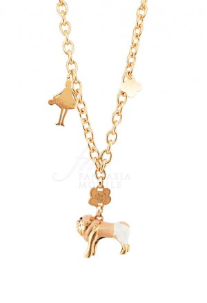 Collana Donna Le Carose I Love My Dog Cane Carlino  Pink Mood PLE06FM