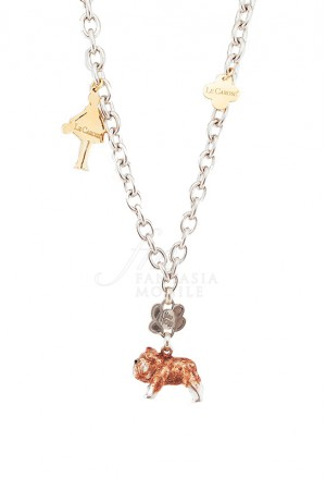 Collana Donna Le Carose I Love My Dog Cane Bulldog Pink Mood SBZB1FM