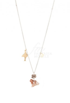 Collana Donna Le Carose I Love My Dog Small Cane Maltese Pink Mood