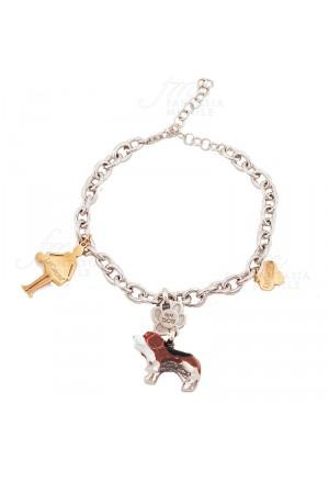 Bracciale Donna Le Carose I Love My Dog Cane Beegle Pink Mood YNUYWFM