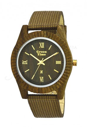 Orologio Vegano Legno Sandalo Misura Media Wood Green Time ZW011F