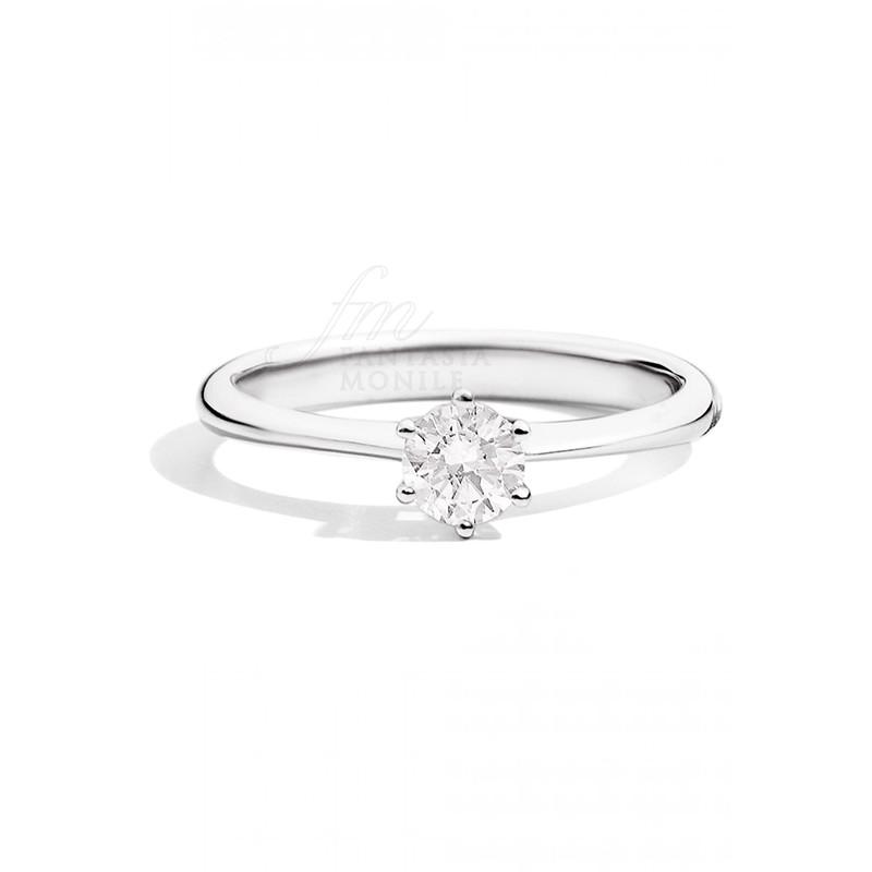 Conosciuto Anello Donna Solitario Fidanzamento Diamante Naturale Oro 18kt Recarlo AC26