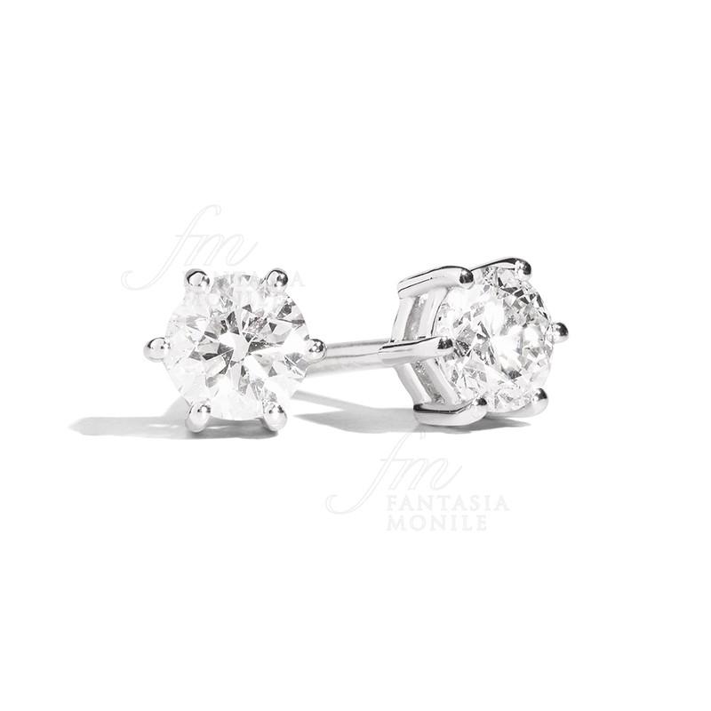 Estremamente Orecchini Punto Luce Diamanti naturali Oro18kt Modello Sofia Recarlo ZY66