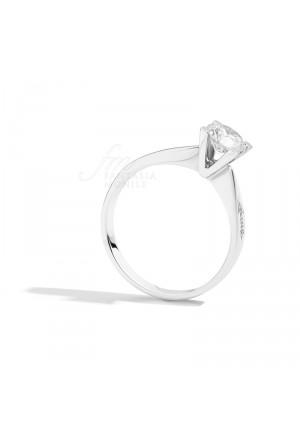 Anello Donna Special Edition Solitario Diamante Naturale Platino Modello Maria Teresa Recarlo PT265/040