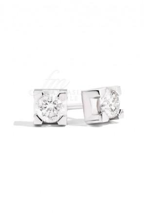 Orecchini Donna Punto Luce Diamanti naturali Oro18kt Modello Maria Teresa Recarlo E30PX265/018