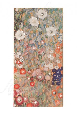 Quadro Gustav Klimt Giardino Dei Fiori Argento 925 Legno 31x61 Acca QD.84 KL