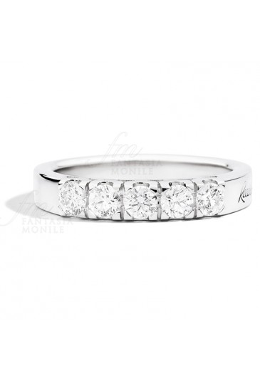 aa47ee7aa96bb2 Anello Donna Veretta 5 Pietre Diamante Naturale Oro 18kt Modello Maria  Teresa Recarlo R30MZ265/120
