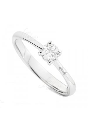 Anello Donna Solitario Diamante Naturale Oro 18kt Modello Eleonora Recarlo R26SO353/040-15