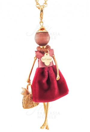 Collana Donna Le Carose Carosa Cat Gatto Le Originali Pink Mood R5ZS2FM