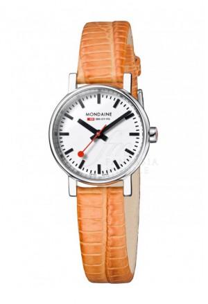 Orologio Mondaine Donna Evo Petite Cinturino Arancione A658.30301.11SBG