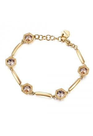 Bracciale Semirigido Brosway Donna Heaven Gold Cristalli Swarovski Acciaio BHV14