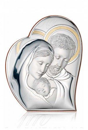 Quadro Sacra Famiglia Argento Bilamina Valenti 81050/6L