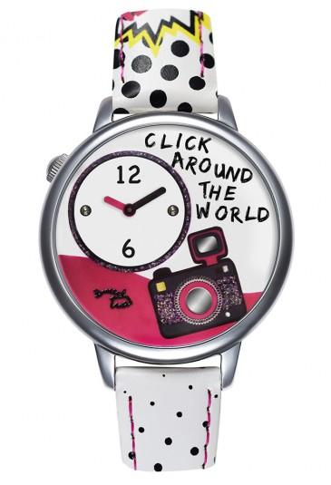 Orologio Braccialini Donna Cartoline Viaggiatrice Blogger Quadrante 3D Bianco TUA 185/BB