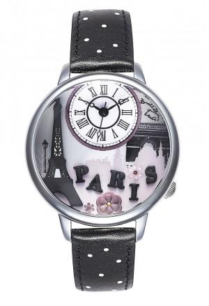 Orologio Braccialini Donna Cartoline Parigi Paris Quadrante 3D Black Nero TUA 115/GNB