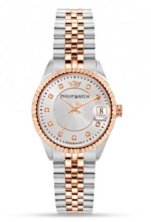 Orologio Philip Watch Caribe Donna Bicolore Rosa Diamanti R8253597525