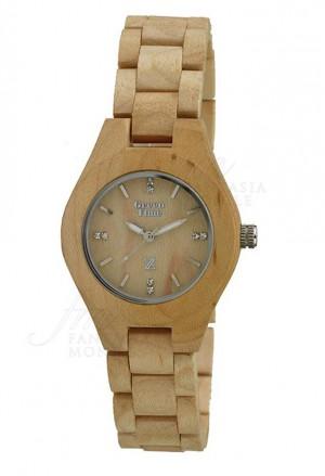 Orologio Donna Legno Chiaro Wood Green Time ZW035A