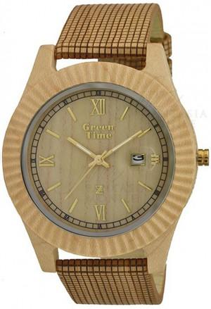 Orologio Vegano Legno Acero Misura Grande Wood Green Time ZW010E