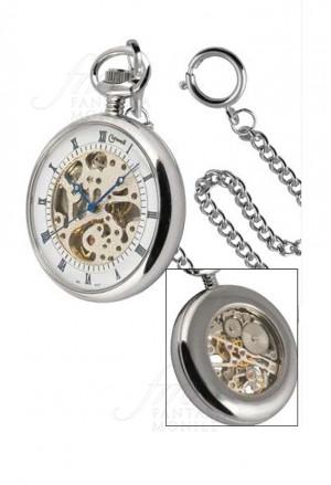 Orologio Lowell Tasca Scheletrato Numeri Romani Acciaio PO5148