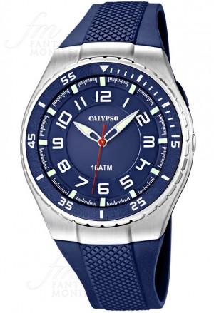 Orologio Calypso Uomo Solo Tempo Lavoro Blu K6063/2