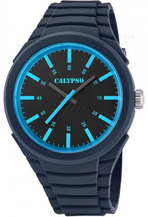 Orologio Calypso Uomo Solo Tempo Blu Celeste Gomma K5725/6