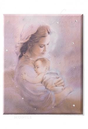 Quadro Acca Sacro Madonna Con Bambino Legno Misura 30x40 SA 12 QU