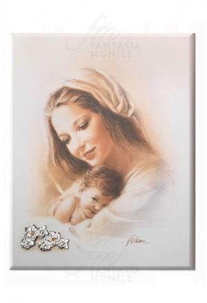 Quadro Acca Madonna Argento 925 Legno Misura 17x24 60DF.1
