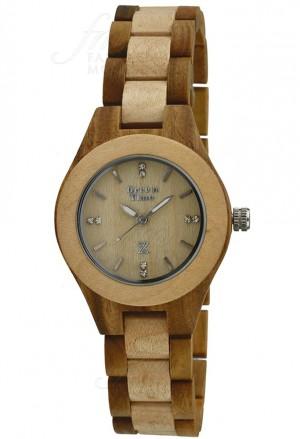 Orologio Donna Legno Acero Sandalo Wood Green Time ZW035B