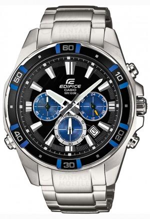 Orologio Edifice Casio Acciaio Uomo Chrono EFR-534D-1A2VEF