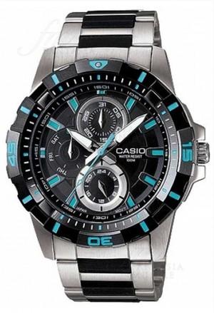 Orologio Casio Chronografo Cassa Acciaio Cinturino Resina Uomo MTD-1071D-1A1VEF