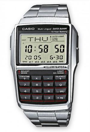 Orologio Casio Data Bank Calcolatrice Chrono Allarme Acciaio Unisex DBC-32D-1AES