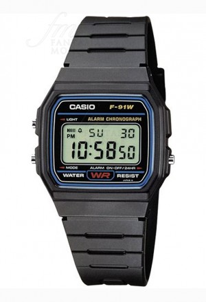 Orologio Casio Collection Digitale Nero Resina Unisex F-91W-1YER