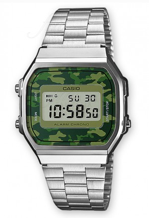 Orologio Casio Collection Vintage Camouflage A168WEC-3EF
