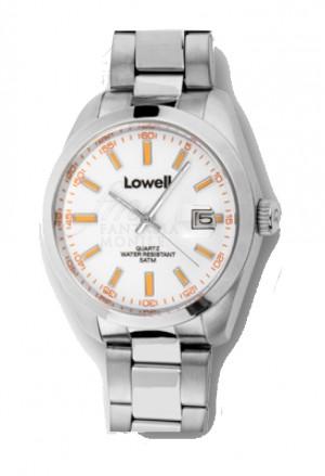Orologio Lowell Uomo Lavoro Quadrante Bianco Datario Acciaio Classic PL5000-00
