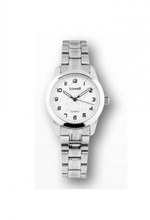 Orologio Lowell Donna Lavoro Quadrante Bianco Acciaio Classic PL4021-80