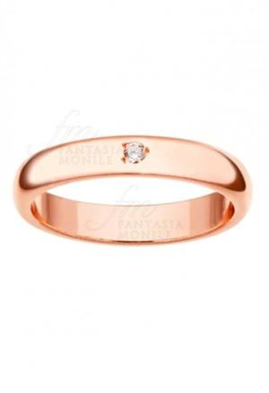 Fedina Aquaforte Fidanzamento Modello Donna Diamante Naturale Bianco Argento 8309