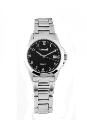 Orologio Lowell Donna Lavoro Quadrante Nero Acciaio Classic PL4051-82