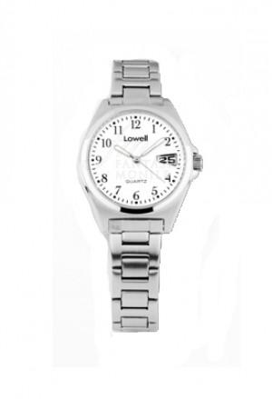 Orologio Lowell Donna Lavoro Quadrante Bianco Acciaio Classic PL4051-80
