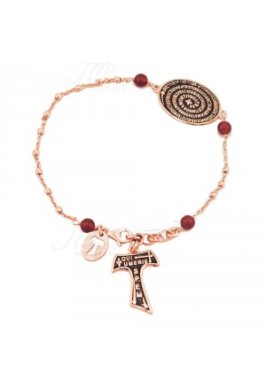 Bracciale Rosario Tau San Francesco Argento 925 Rosa Tau Collection XG3F5FM